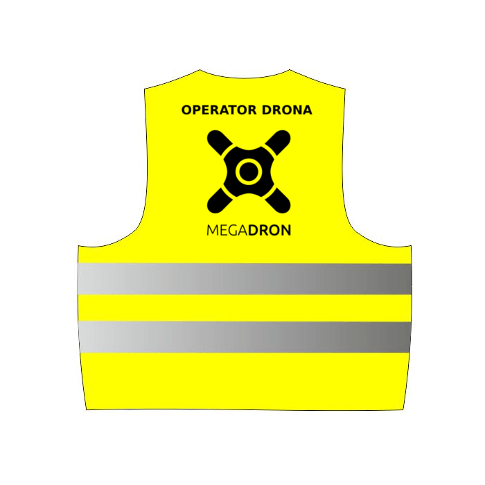Kamizelka odblaskowa operatora drona